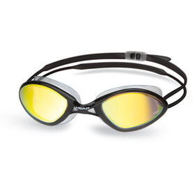 Head Tiger Race Mirrored LiquidSkin Goggles, black - smoke